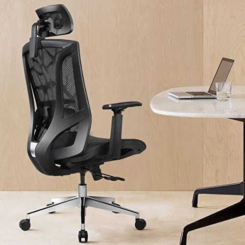 Best Seller Ergonomic Office Chair High Back Breathable Mesh Sliding Chassis 3d Adjustable Arm Rests Computer Chair Height Adjustable Head Support 135 Tilt Tension Black Online In 2020 Ergonomic Office