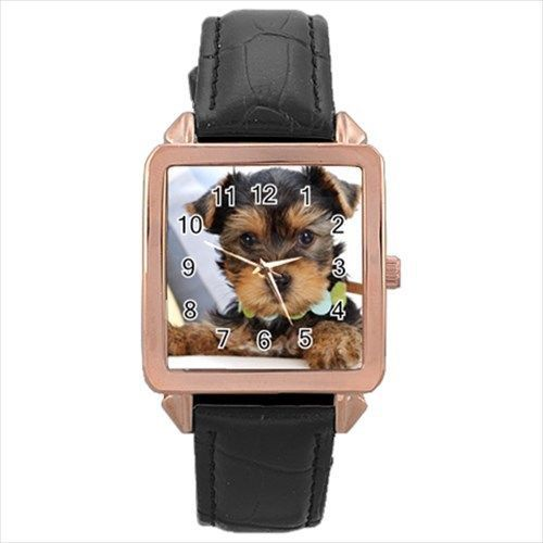 Premium Yorkshire Terrier Rose Gold Metal Watch - Puppy Dog Pet Yorkie Gift