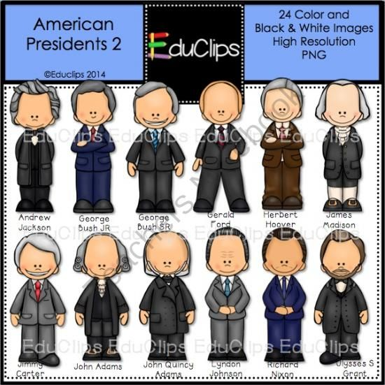 USA Presidents Clip Art