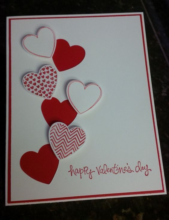 How To Make Easy Diy Valentines Cards For Him Love Hearts