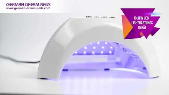 Jolifin LED-Lichthärtungsgerät by GDN.de Das Lichthärtungsgerät für Deine Blitzschnelle Nagelmodellage: http://goo.gl/AX3Mct  Es ist für UV- und LED Gele geeigent unf bietet dank der großen Öffnung komfortablen Platz für Deine Hände. Wähle die passende Aushärtungszeit je nach Gel und profitiere von 70 leistungssarken LEDs. Spare dir Zeit und Strom. Zudem fällt das Wechseln von UV-Röhren weg. #nails #naildesign #led #uvgel
