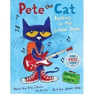 Pete the Cat - Rocking My School Shoes- ideas for book at chalk talk