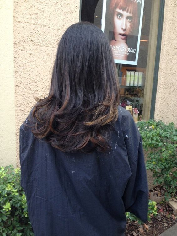 balayage hair black to brown , Google Search