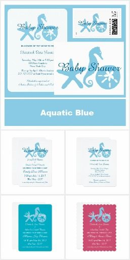 aquatic blue baby showers
