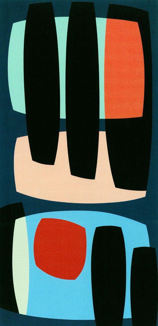 // Karl Benjamin, Black Pillars, 1957