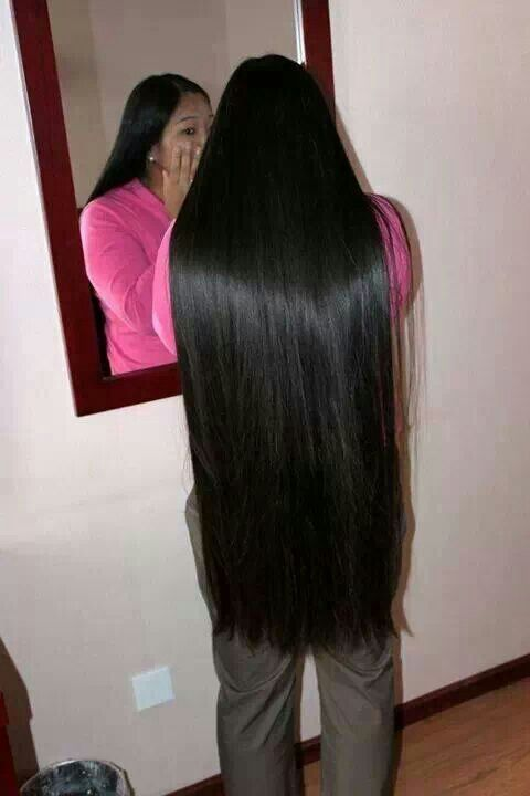 Silky Natural Black Hair