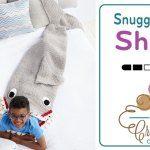 Crochet Shark Snuggle Sack + Tutorial