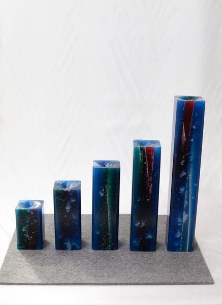 Kerzen - Viereckige Gletscherkerze 20cm - ein Designerstück von Gletscherkerzen bei DaWanda