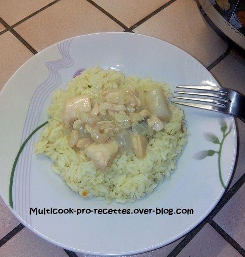 saumon crevettes salsifis à la crème, et riz safrané