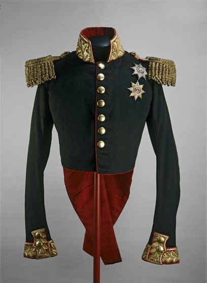 Coronation uniform of Nicholas I, Russia, 1826.  Wool coat with metal braid.
