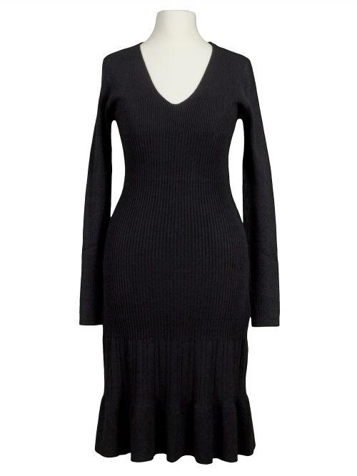 Damen Strickkleid Rippstrick, schwarz von Anny bei www.meinkleidchen.de
