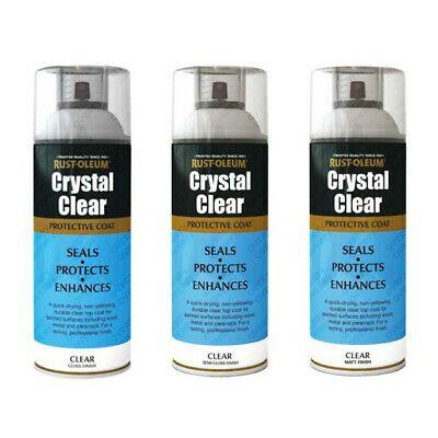 Details About Rust Oleum Crystal Clear Spray Paint Lacquer Top Coat Gloss Matt Semi Gloss White Spirit