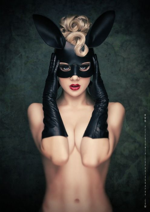 SAINTS & SINNERS - 2015 second in series - BLACK BUNNY- Pin Up by Nicole West; model picture