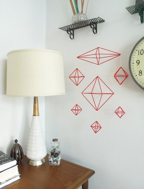 pop of red: Mobile Ideas, Baby Mobiles, Achievable Projects, Diy Baby, Diy Projects