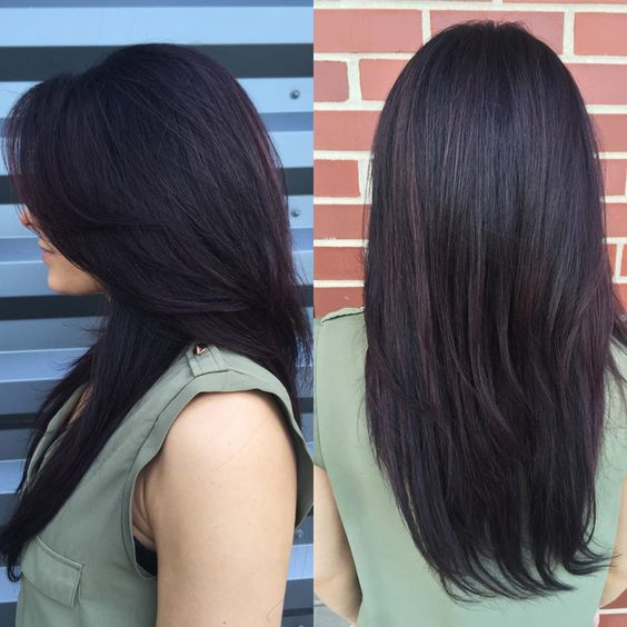 Lauren used Goldwell US Elumen to create a beautiful deep, vibrant violet! Perfect for the fall #moxiebabes