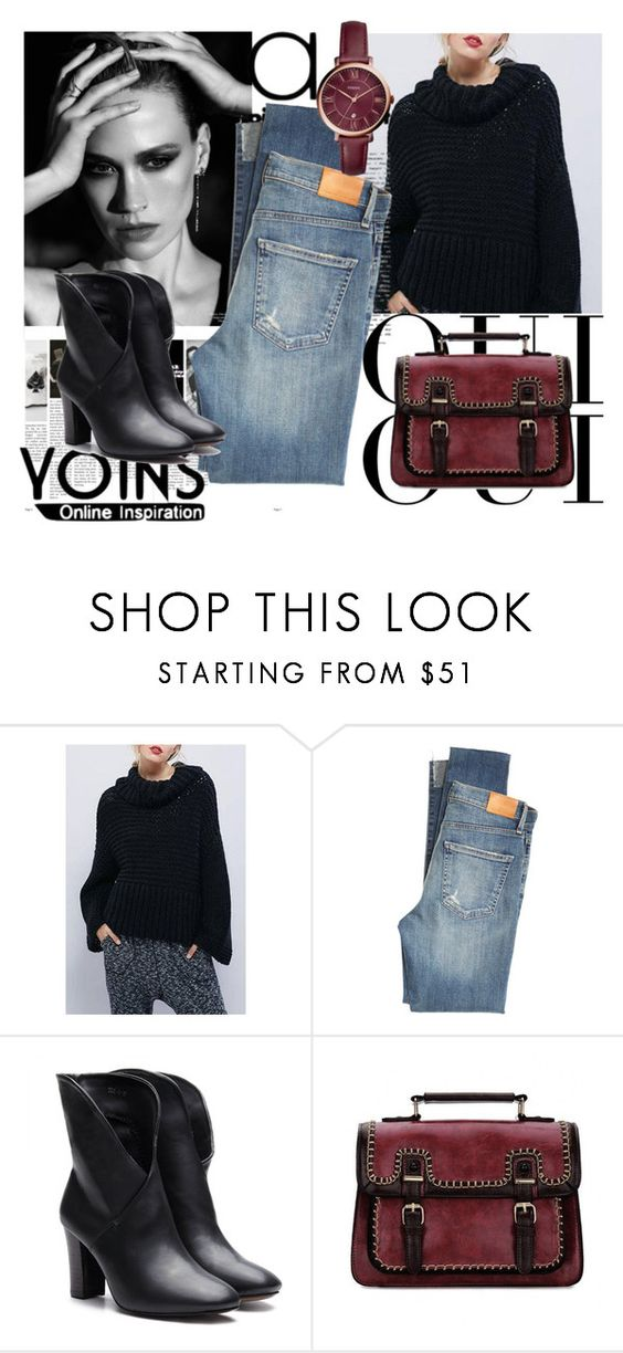 """Yoins"" by sanya-marc ❤ liked on Polyvore featuring Citizens of Humanity, Oui, FOSSIL, yoins and loveyoins"