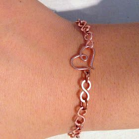 Free Tutorial for Infinity Link Chain Bracelet