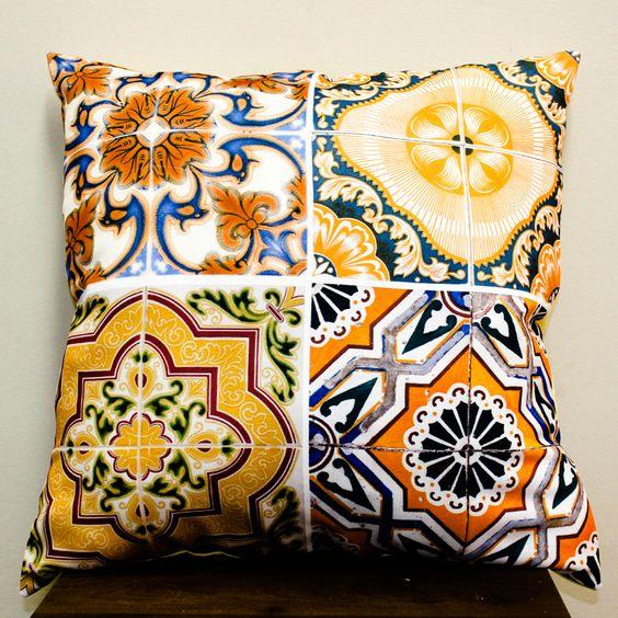 Azulejo - Laranja Tecido: Oxford Enchimento: Manta Acrílica