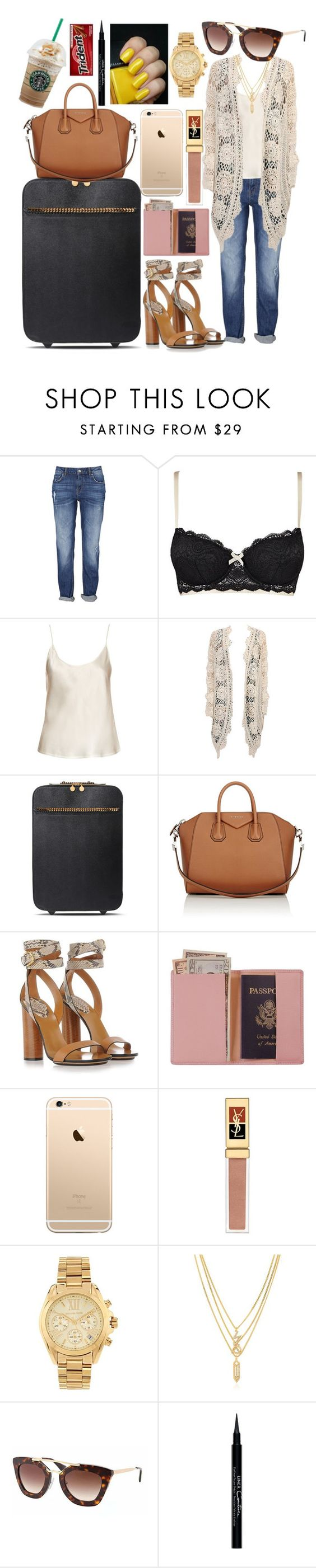 """""""Airport Style."""" by obuoliukas69 ❤ liked on Polyvore featuring Heidi Klum Intimates, La Perla, Mes Demoiselles..., STELLA McCARTNEY, Givenchy, Gucci, Royce Leather, Yves Saint Laurent, Michael Kors and Kenzo"""