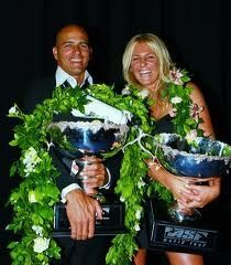 Stephanie #Gilmore and Kelly #Slater, our favorite champions ! #QSW #surf