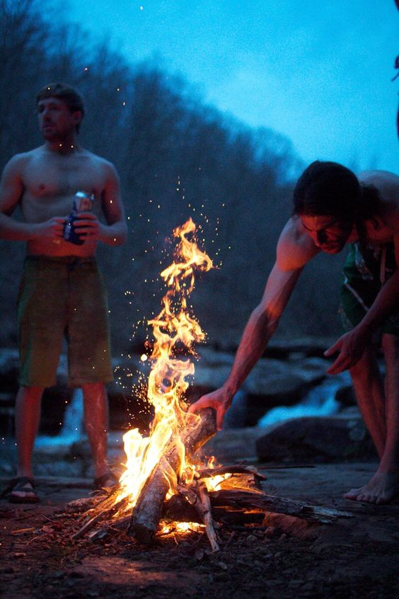 ITAP of a campfire at a watering hole. - Imgur