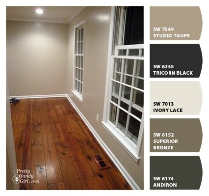 Taupe wall with ceiling painted in ultra bright white for Sherwin williams ceiling paint colors