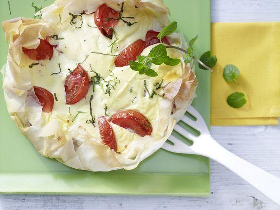 Frischkäse-Tomaten-Tarte - mit frischer Minze - smarter - Kalorien: 448 Kcal…