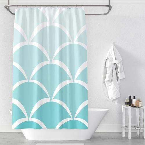 Shower Curtain Scallop Shower Bath