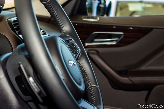 The seam on the steering-wheel of the #Jaguar #FPACE
