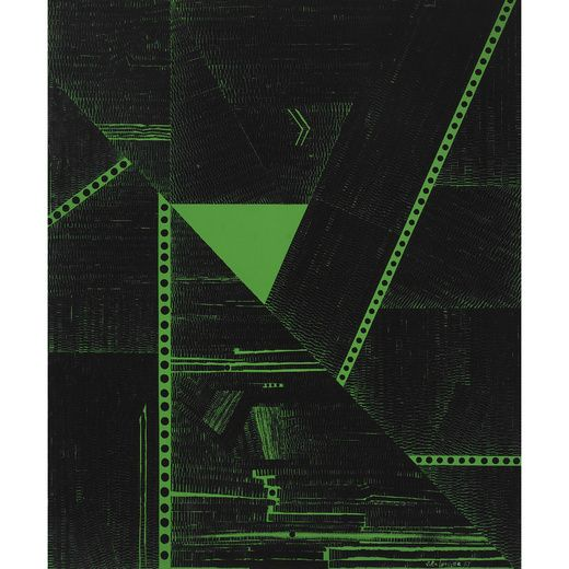 GENICHIRO INOKUMA 1902–1993 The City (Triangle) 1967  Marian WillardによるWillard Galleryで展示