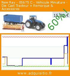New Ray - 05675 C - Véhicule Miniature - Die Cast Tracteur + Remorque & Accessoires (Jouet). Réduction de 60%! Prix actuel 15,21 €, l'ancien prix était de 38,38 €. https://www.adquisitio.fr/new-ray/05675-c-v%C3%A9hicule
