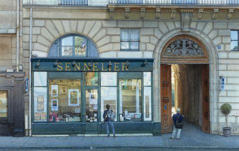 L'artiste Thierry Duval - Le magasin Sennelier ou la caverne et l'artiste