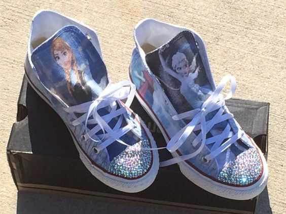 So Icy Frozen Converse on Etsy, $125.00
