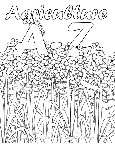 A to z agriculture coloring book printable excellent for for Ffa coloring pages