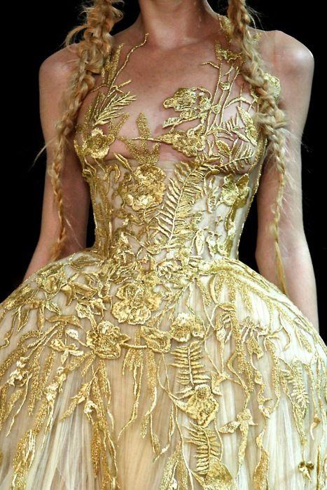Gorgeous gold bodice