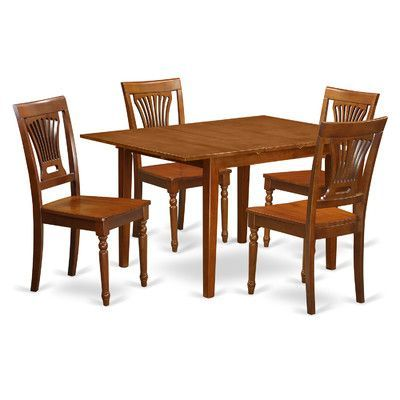 East West Milan 5 Piece Dining Set Chair Upholstery: Non-Upholstered Wood