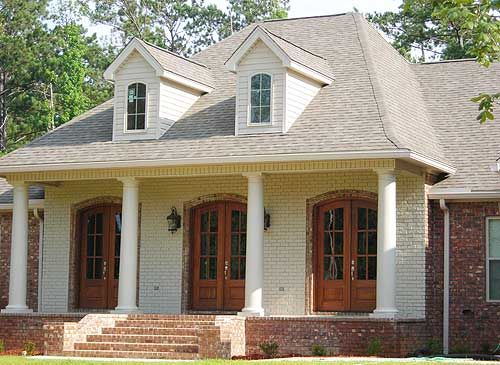 House plans 4 bedroom house and french doors on pinterest for Exterior design pdf