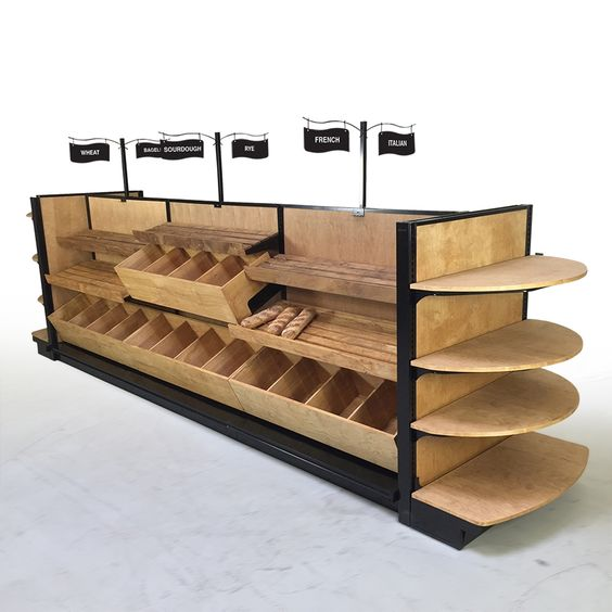 Pastry Display Case Wood Bread amp Bakery Slatted Shelf