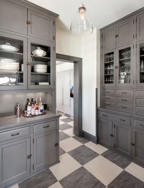 Grey Trim Checkerboard Floor And Milwaukee On Pinterest