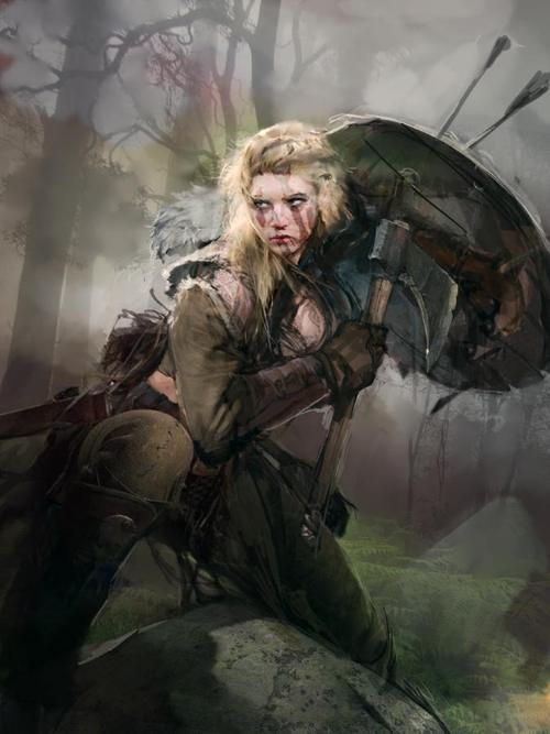 Lagertha Lothbrok by Nuare Studio female fighter barbarian ...