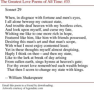 sonnet 29 essay