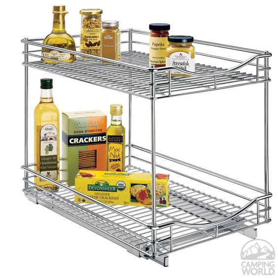 """Roll-Out Double Cabinet Drawers, 14""""W x 18""""D x 17""""H - Lynk 441418DS - Space Savers - Camping World"""