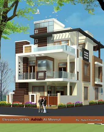Latest Front Elevation Of Home Designs Google Search Modern House Exterior Duplex House Design House Design Photos