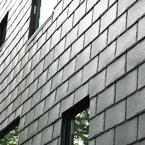 80% Recycled Rubber Roofing Tile These Roofing Tiles, Used As A Wall  Cladding, Provide A Durable Exterior With A Rich Texture And Iconic Deep  Slatu2026