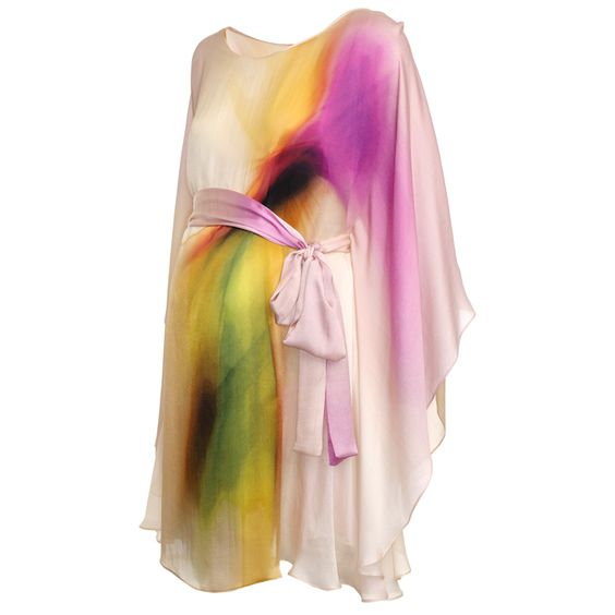 Amandine 100% silk maternity party dress