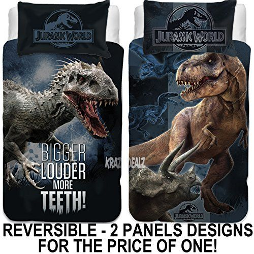 Jurassic World Single Panel Duvet Cover Bed Set