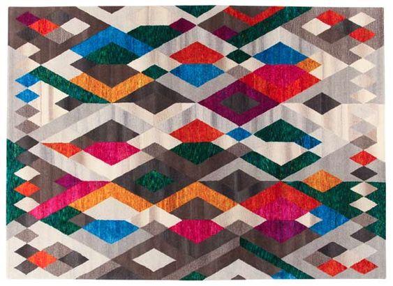 Roche Bobois - PITAGORA hand tufted rug - designed by Mariella Ienna  #RocheBobois #FrenchArtDeVivre