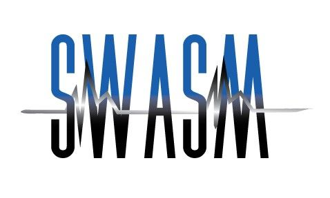 """LOGO: SWASM Designed by Cupcake Graphics, LLC - www.cupcake-graphics.com  This was designed for a fitness clothing line that wanted to incorporate movement in their logo - """"Stop Wishing And Start Moving"""""""