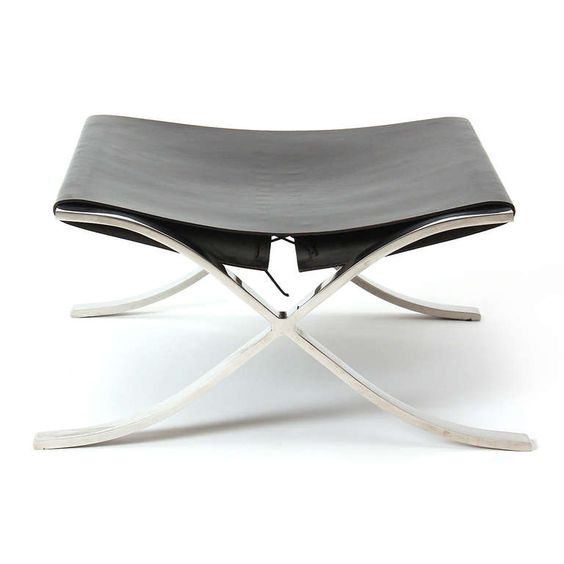 Barcelona Stool By Mies Van Der Rohe, 1950's