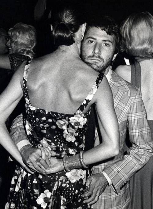 Dustin Hoffman e Anne Byrne , 1973